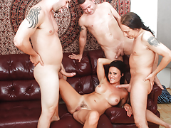 Horny divorced MILF has desire for a solid gang percussion !