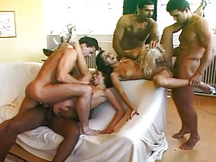 Nice orgy with blowjobs, anal sex & rough dual penetration